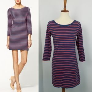 Joie Winberry Red & Blue Striped Tunic Dress Small